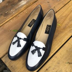 Navy and white Selby loafers size 9.5